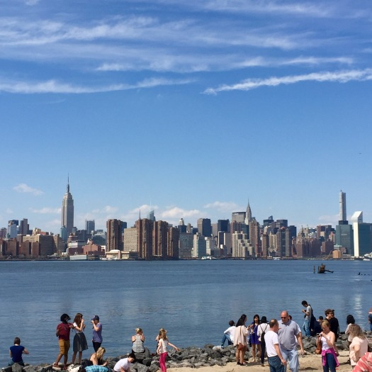 Looking out onto lovely Manhattan from Williamsburg